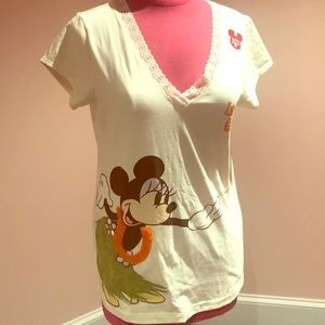 Mickey Mouse T-shirt Hawaii luau